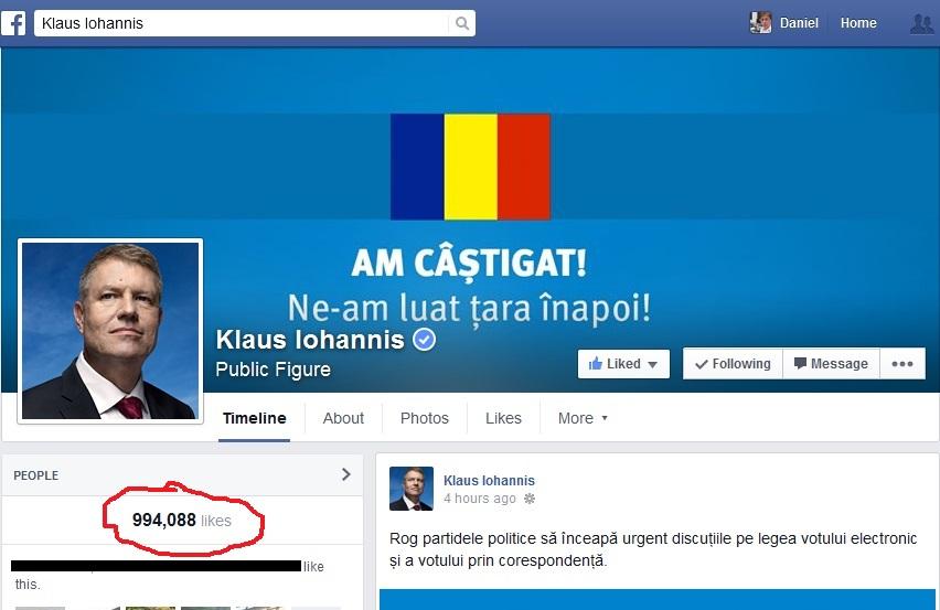 Romanian president iohannis facebook