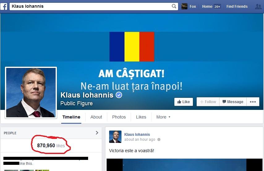 Klaus Iohannis Facebook