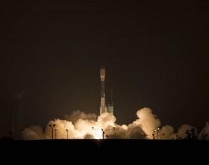 SMAP observatory and Delta 2 rocked on launch pad at Vandenberg Air Force Base (Image credit: NASA/Bill Ingalls)