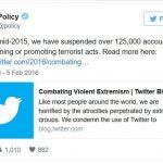 Twitter shut down 360,000 accounts linked to terrorism propaganda