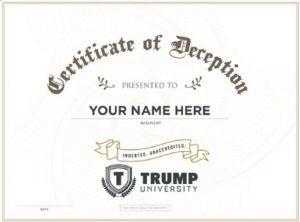 Trump University Diploma