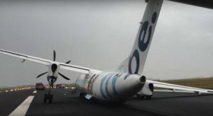 flybe crash landing amsterdam