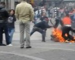 Immolation incident emerged in central Amsterdam