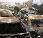 A19 fatal collisions caused by sandstorm in Rostock, Germany
