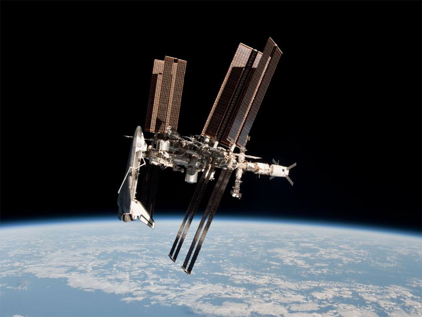 Space Shuttle And Iss Iss During Shuttle 39 s Last
