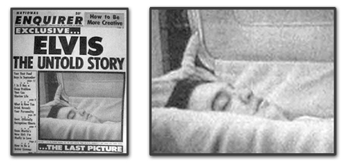 National Enquirer magazin ran photos of Elvis Presley in open coffin