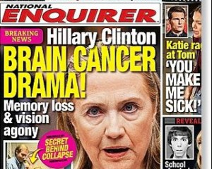 Rumored: Hillary Clinton suspected to suffer from brain cancer. Photo:sott.com