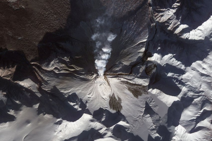 Kizimen volcano is the southernmost of the active group. Photo:spiegel.de