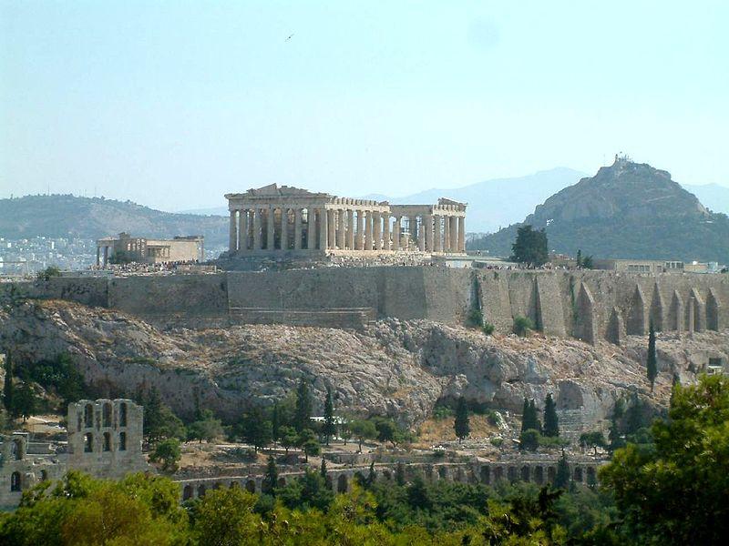 Bombexplosion vid akropolis
