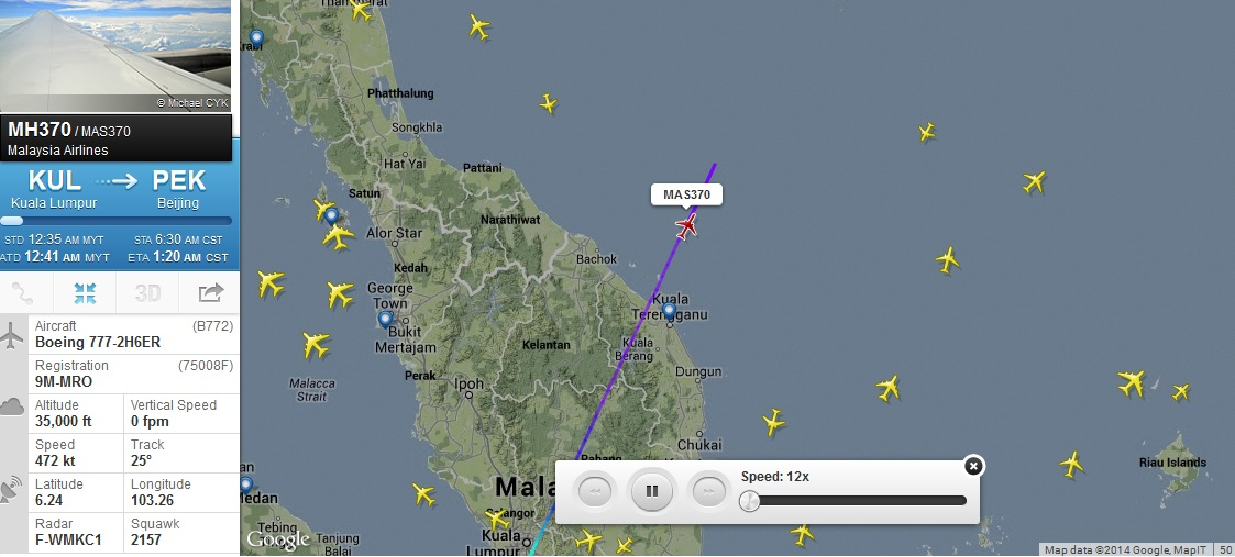 malaysia airlines flight MAS370