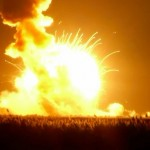 Video: Antares rocket explodes after launch from NASA's Wallops Flight Facility in Virginia