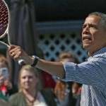 VIDEO: Barack Obama challenging Caroline Wozniacki on tennis court during Easter Egg Roll event