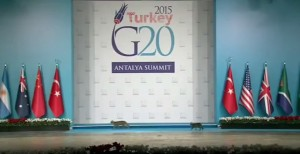 Cats on podium at G20 summit 2015