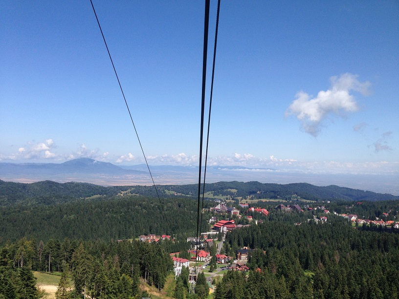 Aerial view of the glamorous scenery around Brasov