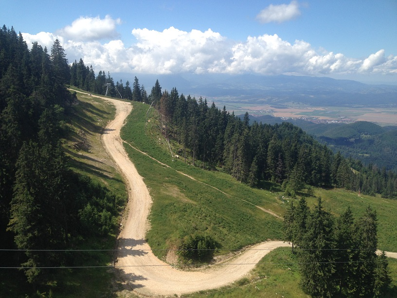 The return trip to Poiana Brasov via same gondola lift