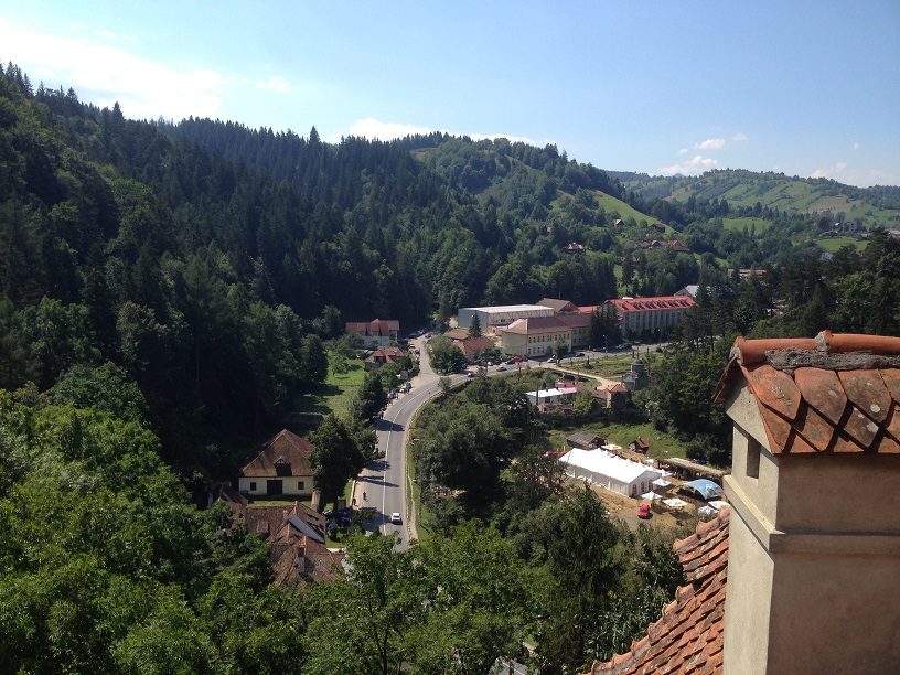 Great view: Overlooking the valley from the top of Bran Castle
