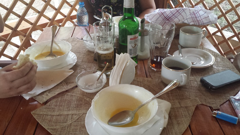 You can not miss the famed Romanian tripe soup (ciorba de burta)