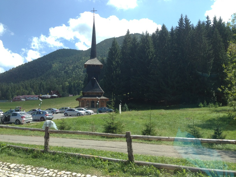 Beautiful wooden church in the heart of Poiana Brasov