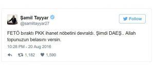 AKP lawmaker Samil Tayyar believes Daesh was behind attack