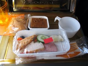 In-flight meal (public domain photo)