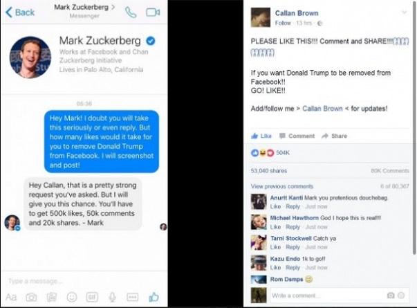 Image result for mark zuckerberg donald trump