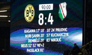 borussia legia scoreboard