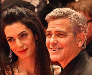 Amal Clooney pregnant twins