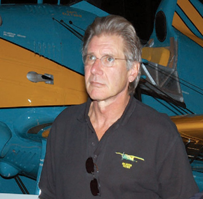 harrison ford�s airplane lands on taxiway after overflying