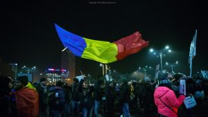romanian protests flag 2017