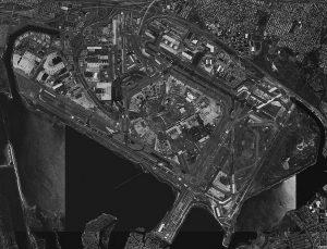 aerial image jfk airport